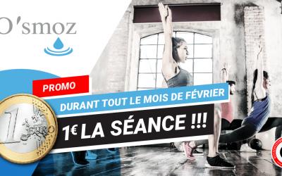 PROMO de février : tous les cours référence fitness à 1€!